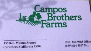Thank You Campos Brothers Farms!