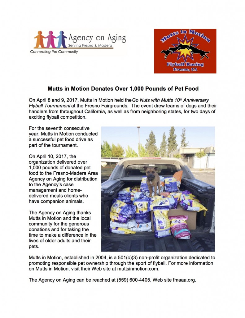 Mutts in Motion 2017 Pet Food Drive jpg